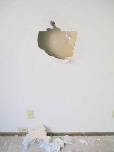 повреждения стен из гипсокартона