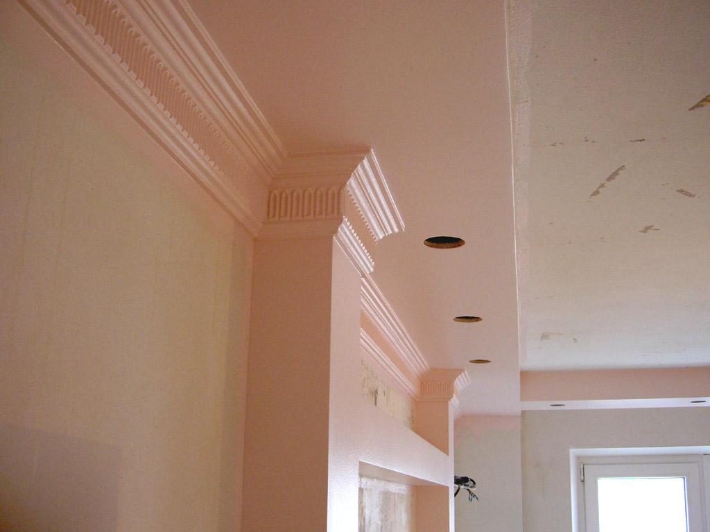 Как сделать короб из гипсокартона под потолком