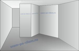 ломаная стена из гипсокартона
